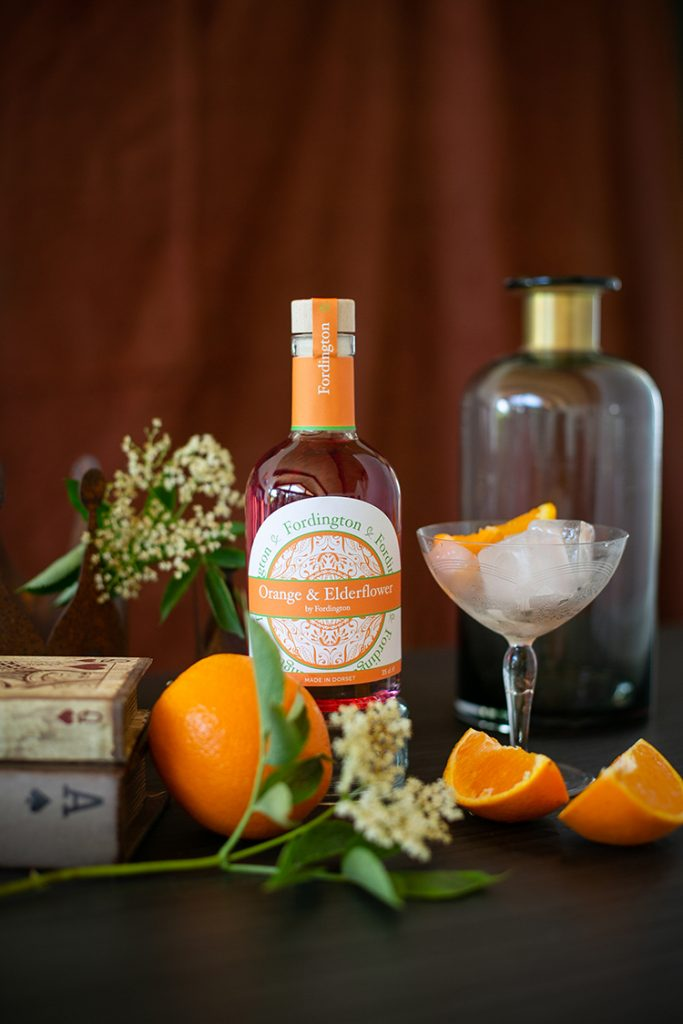 Orange and Elderflower Fordington Gin - product photographer Dorchester
