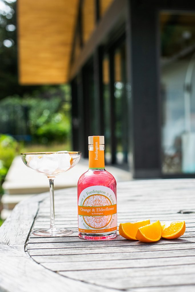 Orange and Elderflower Fordington Gin - commercial photography Dorchester