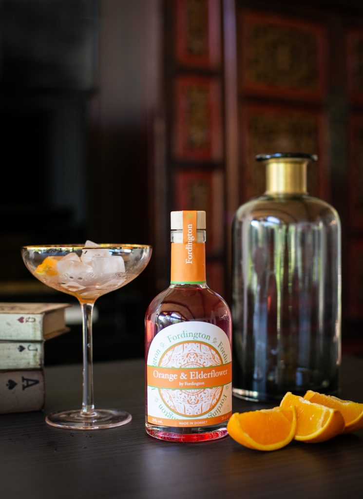 Orange and Elderflower Fordington Gin - product photography Dorchester